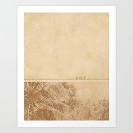 Faded Snapshot Art Print