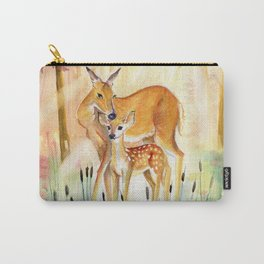 Mom and Little Deer Carry-All Pouch