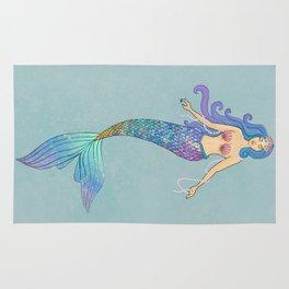 queen mermaid Rug