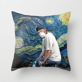 Street Art (Van Gogh) Throw Pillow