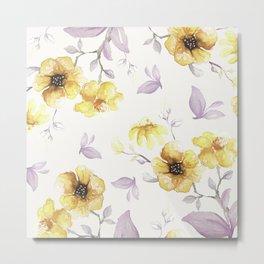 FLOWERS WATERCOLOR 27 Metal Print