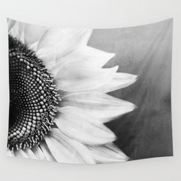B&W Sunflower Wall Tapestry