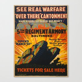 Vintage poster - Fifth Regiment Armory Canvas Print