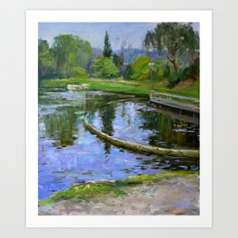 Morning park Art Print