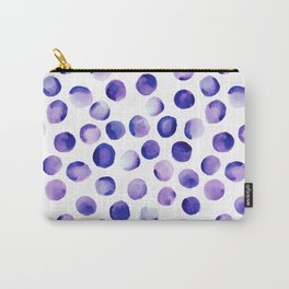 Watercolor Dots // Royal Purple Carry-All Pouch
