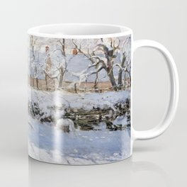 1869-Claude Monet-The Magpie -89 x 130 Coffee Mug
