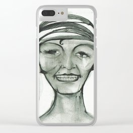 Flapper? Hardly Know Her Clear iPhone Case