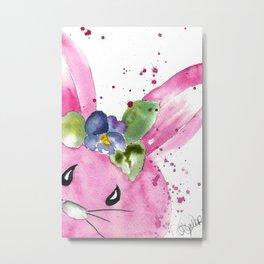 Easter Bunny Peek A Boo Metal Print