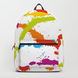 Splattered Rainbow [WHITE] Backpack