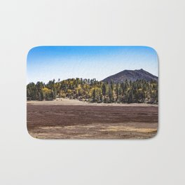 Meadow with Gold and Red Grasses Framed with Mountains by Lake Cuyamaca Bath Mat