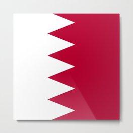Bahrain flag emblem Metal Print