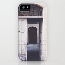 Cottage Doors in Bayeux iPhone Case