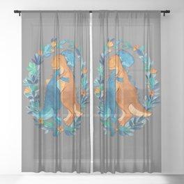 Dino Hugs Sheer Curtain