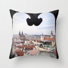 Window to Prague Throw Pillow