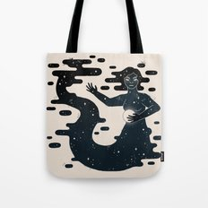 Space Mermaid Tote Bag