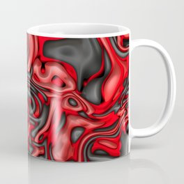 Funky Melted black and red Coffee Mug