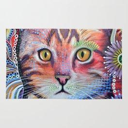Olivia ... abstract pet animal cat kitty art Rug