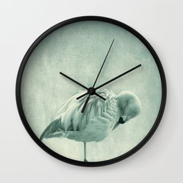 Flamingo Blues Wall Clock
