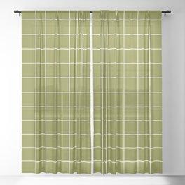 Grid (Matcha Green) Sheer Curtain