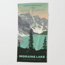 Moraine Lake Poster Beach Towel