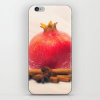 pomegranate iPhone & iPod Skins featuring Pomegranate by Tanja Riedel