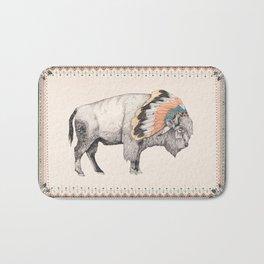 White Bison Bath Mat