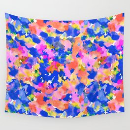 Floral splash Wall Tapestry