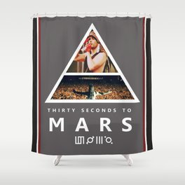 30 Seconds To Mars Shower Curtain