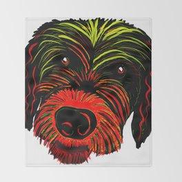 Colorful Scruffy Dog Throw Blanket