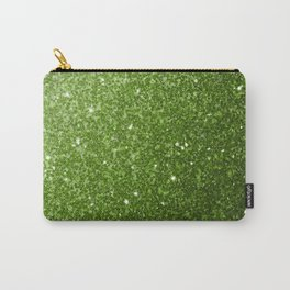 Beautiful Greenery Pantone glitter sparkles Carry-All Pouch