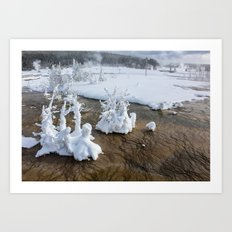 Winter in Yellowstone Art Print