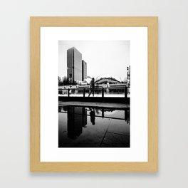 Chicago Bean/ Ice Rink Framed Art Print