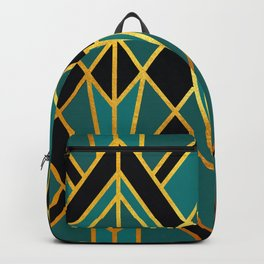 Art Deco Keep On Walking In Turquoise Backpack