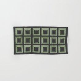 Green Squares Hand & Bath Towel