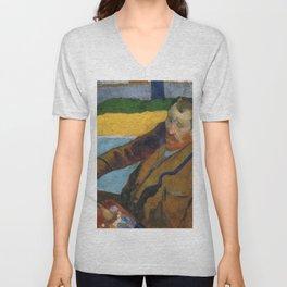 1888 - Gauguin -  Vincent van Gogh painting sunflowers Unisex V-Neck