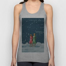 A walk on the Clouds /// Friendship Unisex Tank Top