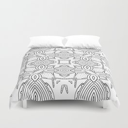 outback lines Duvet Cover