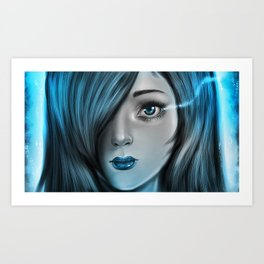Blue Tear Art Print