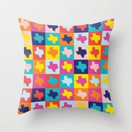 texas rainbow Throw Pillow