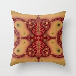 """""""Brickred"""" Fractal Art Print Throw Pillow"""