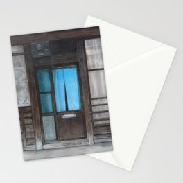 Blue curtains. Kyoto Stationery Cards