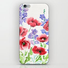Poppies and Bells iPhone Skin