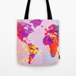 What a Colorful World Map Tote Bag