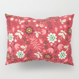 Fresh Blossoms (Reds) Pillow Sham