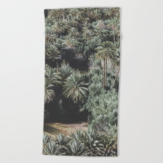 Palm Tree Jungle Beach Towel