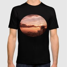 Dawn in the city V2 Mens Fitted Tee Black MEDIUM