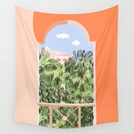 Summer Travel #illustration #tropical Wall Tapestry