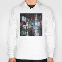 broadway Hoodies featuring Nights on Broadway by Scott Grabowski