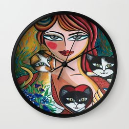 Les chéris de Martine Wall Clock