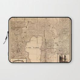 Map Of Lake Tahoe 1874 Laptop Sleeve